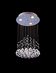 50W Pendant Light ,  Modern/Contemporary Painting Feature for Crystal Metal Living Room / Dining Room / Hallway