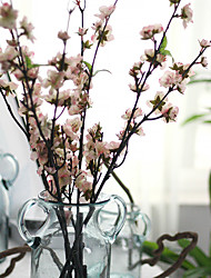1pc 1 Une succursale Polyester / Plastique Cerisier du Japon Arbre de Noël Fleurs artificielles 43.30inch/110CM