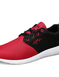 Herren-Sneaker-Outddor / Lässig / Sportlich-Leder-Flacher Absatz-Komfort-Schwarz / Blau / Schwarz und Rot