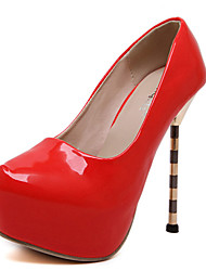 Mujer-Tacón Stiletto-Tacones-Tacones-Casual-PU-Negro / Rojo / Blanco