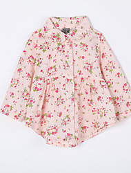 Baby Casual/Daily Floral Blouse-Cotton-Fall-Pink / Yellow