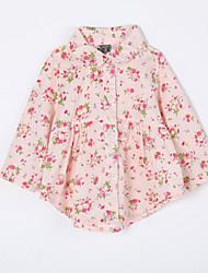 малыш Блуза-На каждый день,Цветочный принт,Хлопок,Осень-Розовый / Желтый