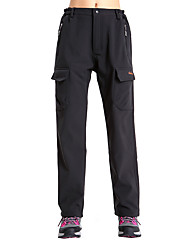 Clothin Women Warm Fleece Windproof Ski Pants Softshell Insulated Snow Pants