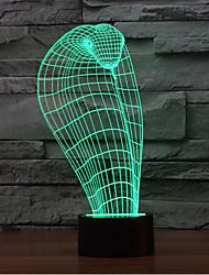 cobra contact gradation 3d conduit de lumière de nuit lampe atmosphère décoration 7colorful éclairage nouveauté lumière de Noël