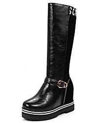 Women's Boots Fall / Winter Fashion Boots / Round Toe / Office & Career / Dress / Casual Platform Buckle / Split Joint