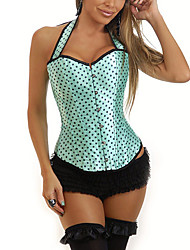 Women Overbust Corset,Satin Lace Up