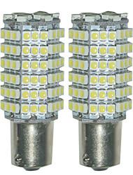 2pcs 1156 3528 120smd водить поворота автомобиля хвост обратный резервный габаритный фонарь светодиодная лампа (DC12V)