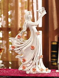 Crafts Are White Porcelain Figures Furnishing Articles