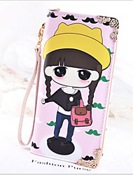 Long Wallet Zipper Bag Girl Cute Cartoon Wallet Meng Student Bag Wallet Mobile Phone
