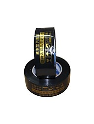Black Warnings Tape 2.5Cm Wide and 4.4Cm Thick Sealing Tape (Volume 2 A)