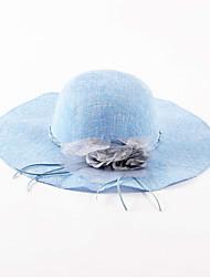 Chapeau de soleil Printemps / Eté Vintage / Décontracté Lin Femme