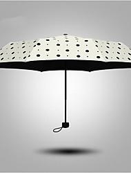 Branco Guarda-Chuva Dobrável Ensolarado e chuvoso têxtil Viagem / Lady