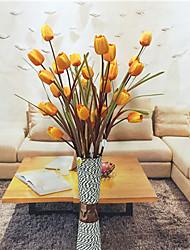 1 1 Ramo Poliéster / Plástico Tulipas Flor de Mesa Flores artificiais 39.37inch/100cm