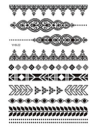 6 Tattoo Aufkleber Schmuck Serie Non Toxic / Muster / Waterproof / Spitze / HennaDamen / Erwachsener Flash-Tattoo Temporary Tattoos