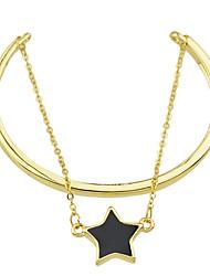 Fashion Enamel Star Layers Chain Bracelets