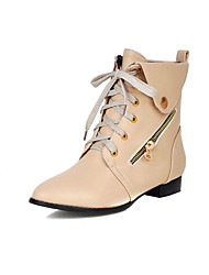 Women's Boots / Fashion Boots Leatherette Office & Career / Party & Evening / Dress / Casual Flat HeelRibbon Tie / Split