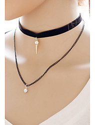Necklace Choker Necklaces / Pendant Necklaces / Layered Necklaces Jewelry Daily / Casual Fashionable Alloy Black 1pc Gift