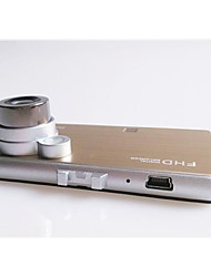 hd 1080p ultra-fino metálico nouveau riche de ouro super grande angular gravador de monitoramento de tráfego de condução