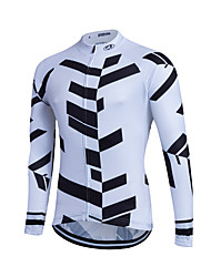 Fastcute® Cycling Jersey Women's / Men's / Kid's / Unisex Long Sleeve BikeBreathable / Quick Dry / Front Zipper / Reflective Strips /