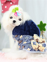 Dog Coat / Hoodie Blue / Yellow Winter / Spring/Fall Color Block / Geometic Keep Warm / Casual/Daily Dog Clothes