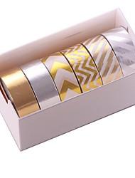 Wedding/Birthday Scrapbooking & Stamping 1set Colorful Masking tape Multi Color Paper