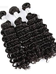 Человека ткет Волосы Бразильские волосы Кудрявый 3 предмета волосы ткет