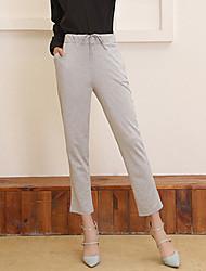 De las mujeres Pantalones Chinos-Activo Rígido-Rayón