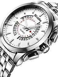 Men's Fashion Quartz Wrist Watch Business Calender Stainless Steel Belt Big Round Dial Watch Cool Watch Unique Watch