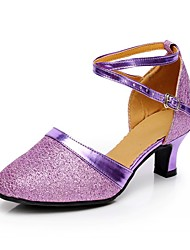 Customizable Women's Dance Shoes  Sparkling Glitter Modern Heels Customized Heel Indoor / Brown / Purple /Gray/Gold