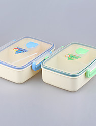 Eco Microwave Safe Prep Meal Bento Container Lunchboxes 3-Compartment