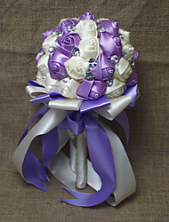 Bouquet sposa Tondo Rose Bouquet Matrimonio Strass 18 cm ca.
