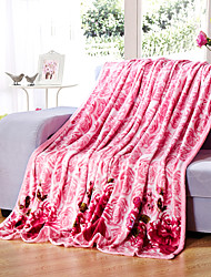 Pink Fleece fabric blanket summer comforter Air conditioning throw winter soft bedsheet for single or double bed