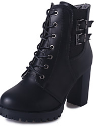 Women's Heels Spring / Fall Heels / Round Toe Leatherette Outdoor / Office & Career / Casual Chunky Heel Chain
