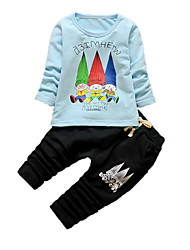Boy's Casual/Daily Print Clothing SetCotton Fall Blue / Green / Pink / White
