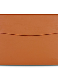 "Sleeve for MacBook Air 13.3"" Solid Color Genuine Leather Material Luxury Slim Leather Computer Bag Series"