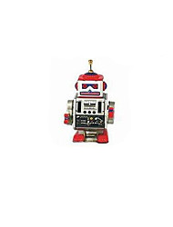 Novelty Toy  Puzzle Toy  Educational Toy Wind-up Toy Puzzle Toy Warrior  Robot Metal White Blue /Gold For Kids