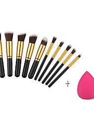 10pcs Full Set Women Makeup Brush Kit Superior Professional Soft Cosmetic Brushes Multifunction Toiletry Kit for Women