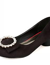 Damen-High Heels-Hochzeit Büro Kleid Lässig Party & Festivität-Kunststoff Lackleder Kunstleder-Blockabsatz-Komfort Neuheit Pumps-Schwarz