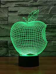 Apple Touch Dimming 3D LED Night Light 7Colorful Decoration Atmosphere Lamp Novelty Lighting Christmas Light