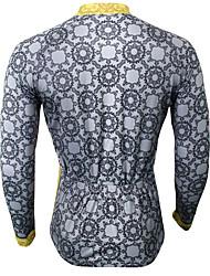 Sport Fahrradtrikot Herrn Langärmelige Fahhrad Atmungsaktiv / UV-resistant / Schweißableitend Oberteile Coolmax Klassisch Sommer / Herbst