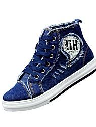 Homme-Décontracté / Sport-Bleu / Marine-Talon Plat-Confort-Sneakers-Toile