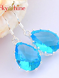 Drop Earrings Crystal Topaz Fashion Flower Drop Jewelry Wedding Party Daily Casual Sports 1 pair