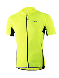 ARSUXEO® Cycling Jersey Men's Short Sleeve BikeBreathable / Quick Dry / Anatomic Design / Front Zipper / Sweat-wicking / Comfortable /