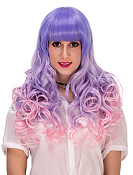 Blue Pink gradient long hair wig.WIG LOLITA, Halloween Wig, color wig, fashion wig, natural wig, COSPLAY wig