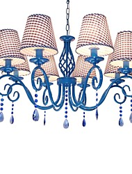 Mediterranean style droplight is contracted and contemporary blue crystal lamp living room/bedroom/study/restaurant