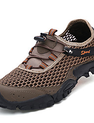 Men's Shoes Tulle Outdoor Sneakers Outdoor Sneaker Flat Heel Lace-up Blue / Gray / Khaki