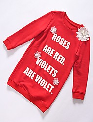 Girl's Casual/Daily Print Hoodie & Sweatshirt,Cotton Winter / Fall Red