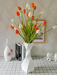 1 1 Ramo Poliéster / Plástico Tulipas Flor de Chão Flores artificiais 35.4inch/90cm