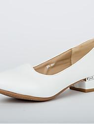 Chaussures de danse(Noir / Vert / Rouge / Blanc / Gris) -Non Personnalisables-Talon Cubain-Similicuir-Moderne