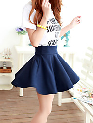 Women's Solid Blue / Red / Black Skirts,Cute Mini Dress